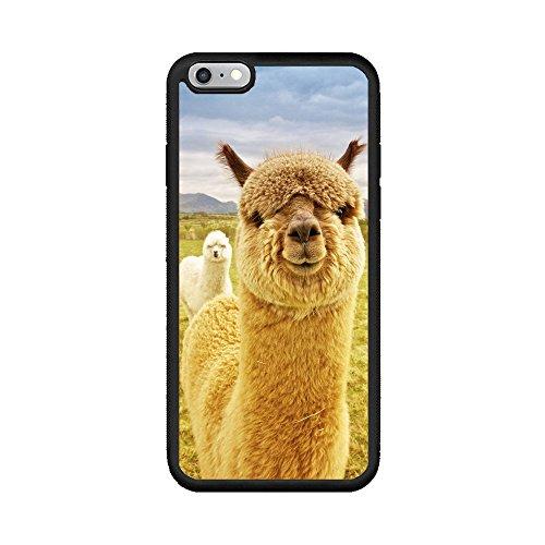andenley Alpaka Telefon Fall Mädchen, Cute Tier-Muster Alpaka Soft Gummi Stoßdämpfung kratzfestem TPU iPhone Cover iPhone 5/5S/SE, 6/6S, 6P, 7/8,7p/8P, iPhone 7p/8p, Gelb