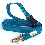 DOGS and MORE - VERLÄNGERBARE Schleppleine mit LÖSBARER Handschlaufe - Basis 5 Meter (Blau; 25 mm breit) / Suchleine / Feldleine