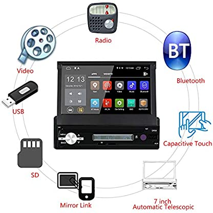 WANGOFUN-Android-60-Autoradio-7-Zoll-Touchscreen-Autoradio-In-Dash-GPS-Navigation-mit-Backup-Kamera-Untersttzung-Bluetooth-USB-SD-Mirro-Link-WiFi-AMFMRDS