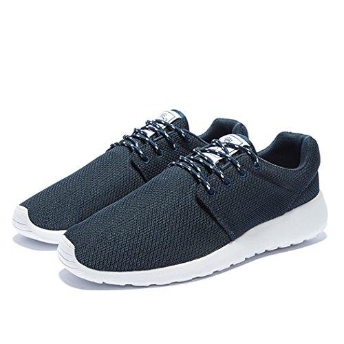 daillor Herren & Damen-air-breathing Mesh Laufschuhe, Walking Sneakers Dunkelblau