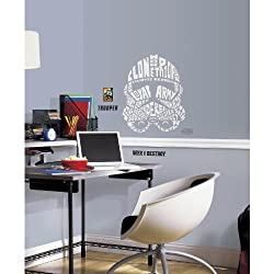 RoomMates Star Wars Typographic Clone Trooper Peel and Stick Giant Wall Decals