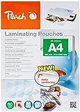 Peach PP580-50 Laminierfolien, DIN A4, 80 mikron, 5 x 100 Stück - Jumbopack zum Spartarif