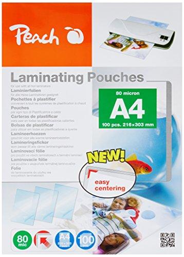 Peach PP580-50 Laminierfolien, DIN A4, 80 mikron, 5x 100 Stück - Jumbopack zum Spartarif