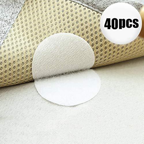 Tensay 40 Stücke Starke Selbstklebende Verschluss Magie Aufkleber Nylon für Bettlaken Sofa Matte Klebstoff Klett No-trace Kissen Leder Schnalle Paste -