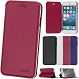 "iPhone 6 / 6S ( 4,7"" ) Flip Hülle, doupi FlipCover Deluxe Magnet Schutzhülle Book Style Ständer Case, rot"