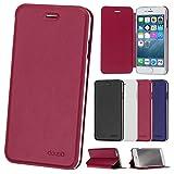 iPhone 6/6s (11,9cm) Flip Cover, Doupi FlipCase Deluxe magnétique style livre étui de protection avec support,  Rose