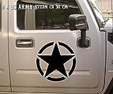 Shirtfrog Auto und Motorrad Aufkleber Hotrod Stern Rat 2X ca 30 cm Militärzeichen US Army