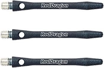 Red Dragon DRX Black Texture Coated Aluminium Medium Shafts & Red Dragon Checkout Card