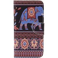 Nancen Galaxy S7 Edge/SM-G9350 (5,5 Zoll) Handy Lederhülle, Flip Case Wallet Cover with Stand Function, Folio Bookstyle Handytasche Soft Silikon Bunte Muster Tasche PU Leder Slim Shell Handyhülle.
