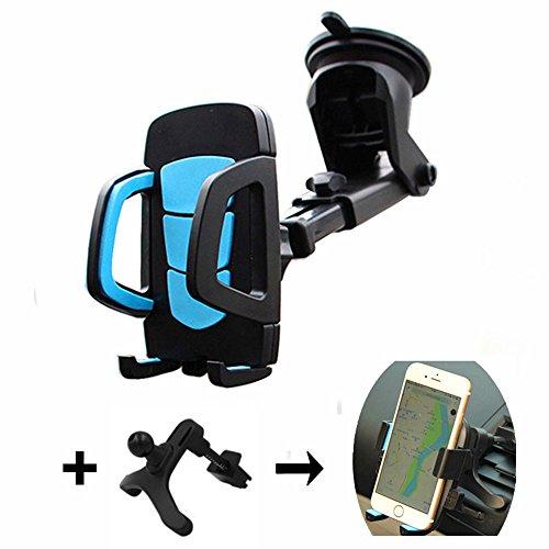 Parabrisas y Salpicadero y Air Vent soporte de coche, universal ajustable brazo largo soporte para teléfono móvil con ventosa cuna