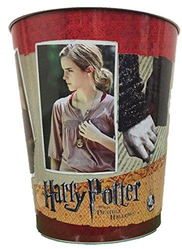 Corbeille à Papier en Métal 10 L Motif Harry Potter et Les Reliques de la Mort