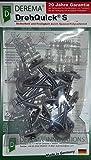 DEREMA® DrehQuick® (S)uper:  das universelle Wellplatten Montage-Set,  bestehend aus schraubbaren Abstandshülsen und V2A- Spenglerschrauben, zur Befestigung von Sinus(76/18)- und Trapez(70/18)-Wellprofilplatten, geeignet für alle Kunststoffe, hinterlüftete Bleche und für Flachplatten aus Glas, Aluminium.