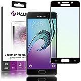 NALIA Schutzglas für Samsung Galaxy A3 (2016), 2.5D Full-Cover Displayschutz Handy-Folie, 9H gehärtete Glas-Schutzfolie Bildschirm-Abdeckung, Schutz-Film Phone Screen Protector Glass, Farbe:Schwarz