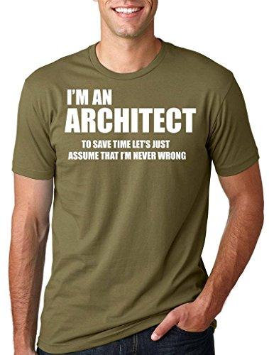Silk Road Tees Arquitecto Masculino Profesión Ocupacional Camiseta de Navidad Camiseta del Regalo de la Camisa Medium Verde