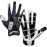GRIP BOOST Stealth Football Gloves Pro Elite (Negro, Medium)