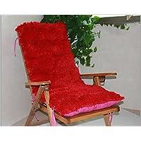 HDWN Inverno caldo peluche sedia a dondolo cuscino Presidenza del rattan peluche cuscino sedia (formato: 120cm * 50cm * 8cm) , red