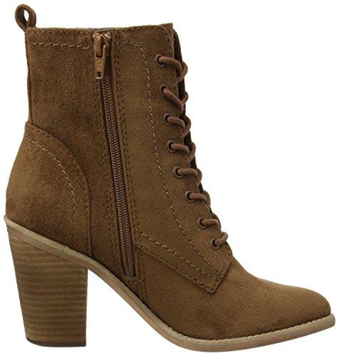 Dorothy Perkins Damen Amethyst Lace Up Combat Boots Braun