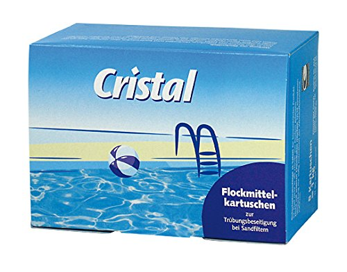 flockmittel pool Cristal Flockmittelkartuschen 1195304, 8Stück