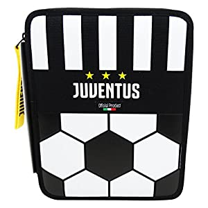 Seven FC Juventus Soccer School Estuche Maxi Escolar con Dos Cremalleras Làpices de colores