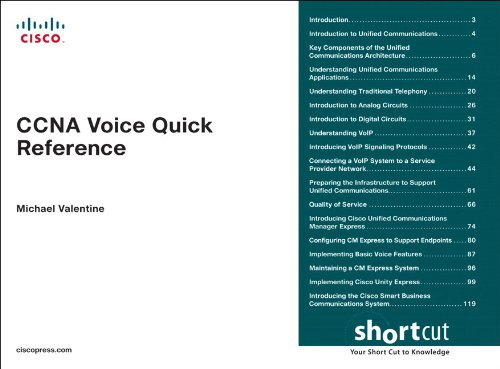 CCNA Voice Quick Reference: CCNA Voic Quic Refe DSC eBook: Michael H
