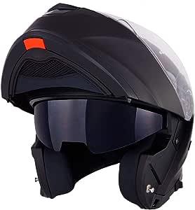 Vinz Santiago Klapphelm Mit Sonnenblende Pinlock Vorbereitet Motorrad Helm Integralhelm Motorradhelm In Gr Xs Xl Schwarz Matt Auto