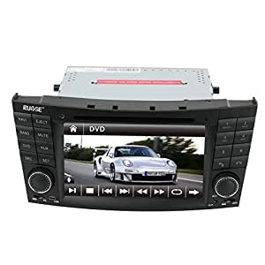 """Rupse For MERCEDES Benz E-W211 E320 E350 / CLS W219 /CLK W209 7"""" HD Touch Screen Car DVD GPS Navigation System with iPod Bluetooth Radio RDS Steering wheel control (8G SD card with 3D navi map)"""