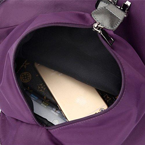 LAIDAYE Nylon Schultertasche Damen Wasserdicht Casual Tasche Reisetasche Damen Rucksack Black