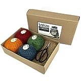 Nutscene nut26gs Classic Bindfäden und Schere Geschenk-Set, mehrfarbig, 22x 14x 6cm