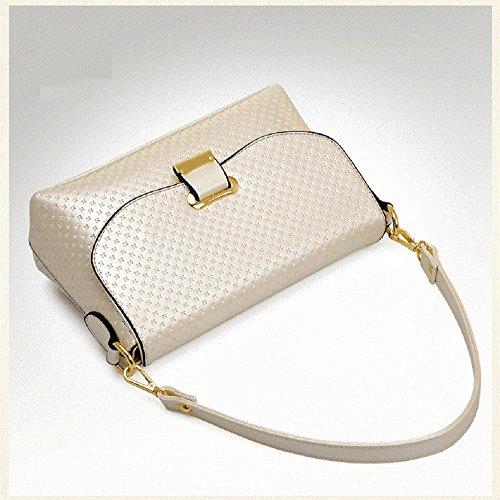 CELO Nuove signore europee ed americane borsa Messenger Bag borsa a tracolla elegante piazzetta della moda di alta qualità , black meters white