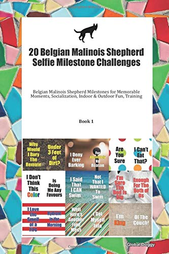 20 Belgian Malinois Shepherd Selfie Milestone Challenges: Belgian Malinois Shepherd Milestones for Memorable Moments, Socialization, Indoor & Outdoor Fun, Training Book 1