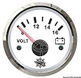 Osculati 27.322.14 - Voltmetro 8/16 V bianco/lucida