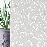 Rabbitgoo®Pellicola Privacy Pellicola Smerigliata Per Finestre e Vetri- Fiori Decorativo,