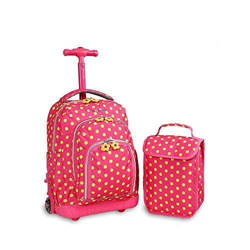 YEXIN Rollende Rucksäcke für Mädchen Schultaschen mit