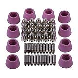 AG60 SG55 Consejos Copas Paquete de electrodos de 50 piezas Antorcha de plasma Accesorios consumibles Puntas de plasma Boquillas 60Amp