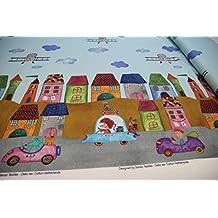Plástico/Niños/metro/A Partir de 25cm/mejor Jersey de calidad/Jersey Casas, vehículos, niños imagen sobre color azul claro