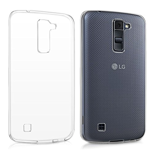 M.G.R.J Ultra Thin 0.33mm Clear Transparent Flexible Soft TPU Slim Back Case Cover for LG K10  available at amazon for Rs.129