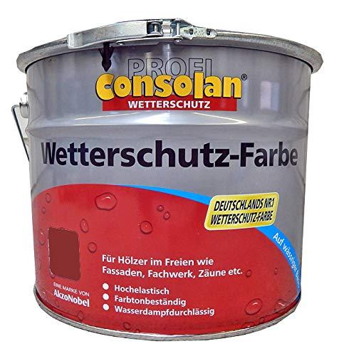 Consolan Wetterschutzfarbe 225 Schwedenrot 10 Liter