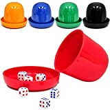 Plastic Dice Cup mit 5 Würfel für die meisten Würfel Spiel Mini Shaker Cup