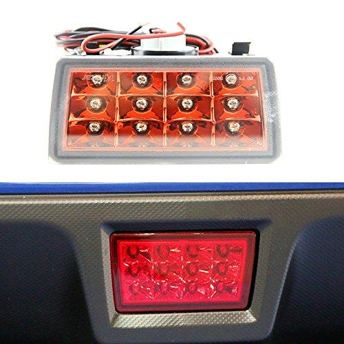 Newsun clair Chrome objectif F1 Style arrière LED Feu de brouillard kit Fit 2011-up Wrx Sti, Impreza ou VX Crosstrek avec fil Harnais et projecteurs