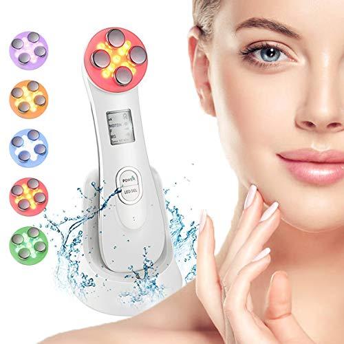 Ultraschallgerät Schönheit Gerät, Massagegerät Maschine Mitesser Akne Entferne Anti-Falten Anti-Aging 6 Modi LED Gesicht5in1 Multifunktions Gesichts Schönheit Gerät