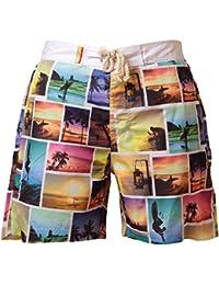 Mens beach surf board summer swim short Tokyo Laundry 1S3846 with Flip Flops