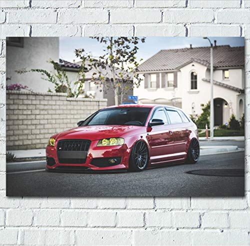 MZCYL Leinwand Malerei Wandkunst Bild Sportscar Red Car Tuning Fahrzeug Poster Drucken Leinwand Malerei Ohne Rahmen 40 * 60 cm