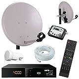 Digital Camping SAT Anlage 40 cm Spiegel + HD Sat RECEIVER + Digitaler SAT Finder + HD single LNB + 10m Kabel