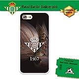 Funda Gel Flexible Betis para iPhone 7, Carcasa TPU, protege y se adapta a la perfección a tu Smartphone. Licencia oficial Betis-Escudo1