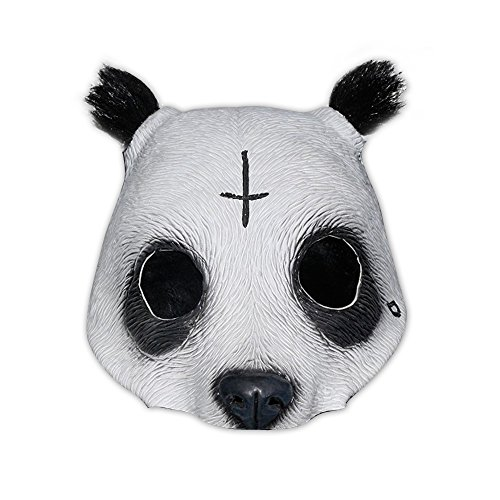 Halloween Kostüm Rapper - Originalgetreue Panda Latex-Maske in Lebensmittelqualität
