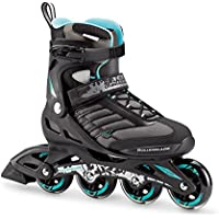 Rollerblade 07736700_915, Pattino in Linea Donna, Nero Blu Cyan, 245 cm