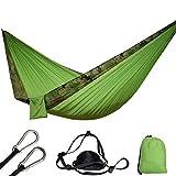 DHIDWWBBH Hamacas Colgantes al Aire Libre portátiles de la Hamaca de Nylon Que acampan multifuncionales, Borde del Camuflaje