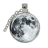 Full Moon Pendentif Galaxy Space Universe Système Solaire superbe nébuleuse Pendentif Luna
