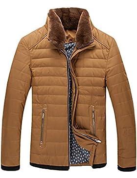MHGAO Por la chaqueta chaqueta caliente chaquetas de invierno Nueva Ropa de Hombre , yellow , l