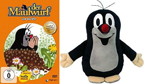 Preisvergleich Produktbild Der kleine Maulwurf - und die Uhr + Pauli Plüschfigur 12 cm im Set - Deutsche Originalware [1 DVD]